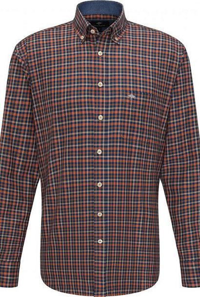 FYNCH HATTON chemise terracotta check