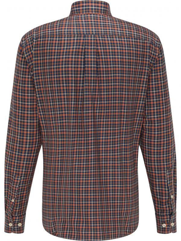FYNCH HATTON chemise terracotta check-2