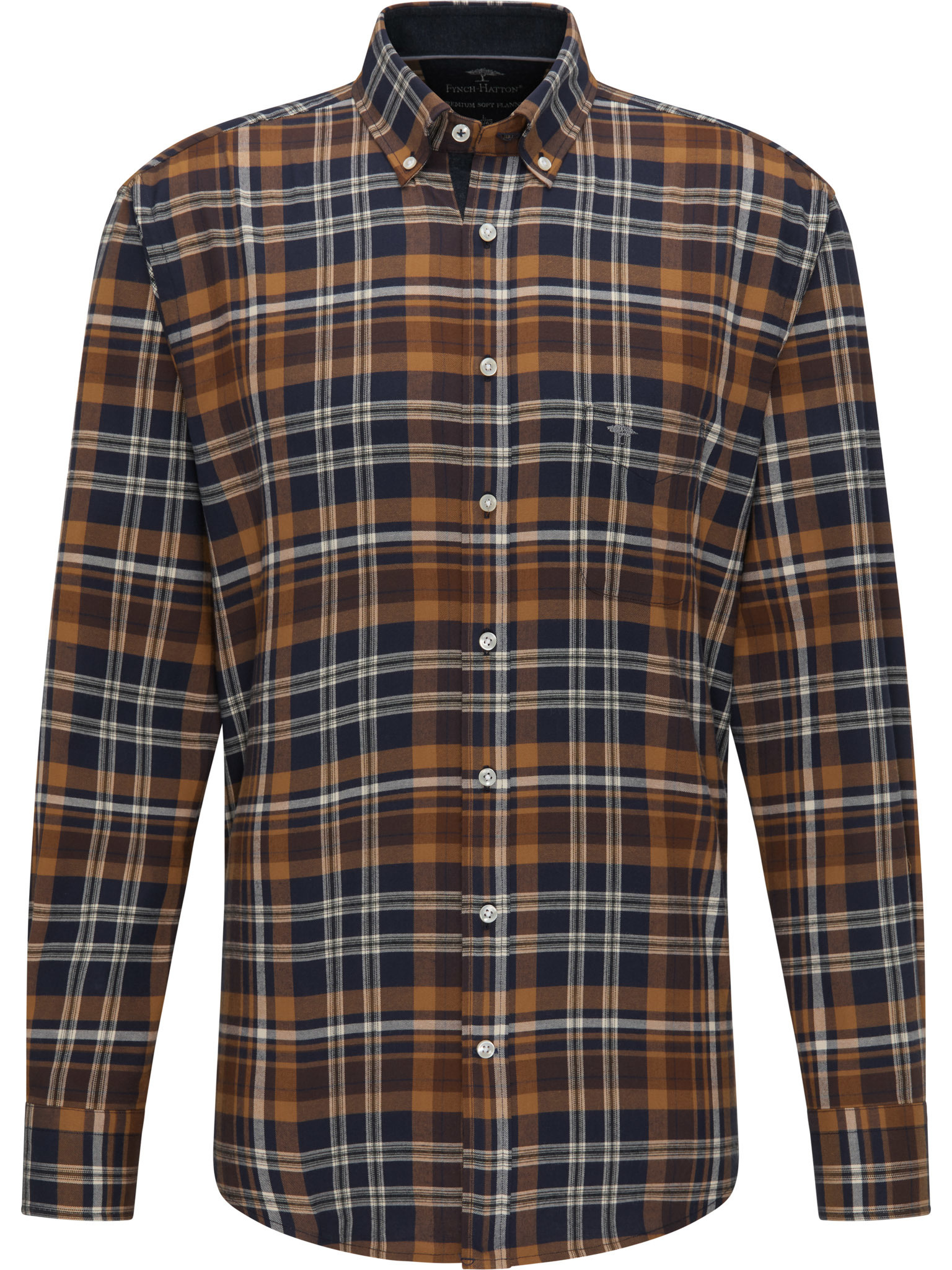 FYNCH HATTON chemise moutard check-1