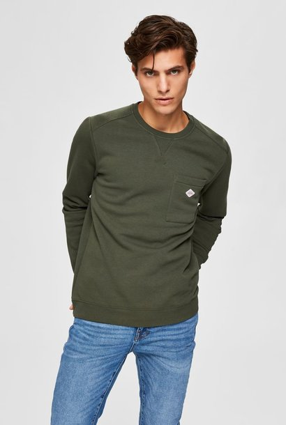 SELECTED sweat-shirt coupe droite