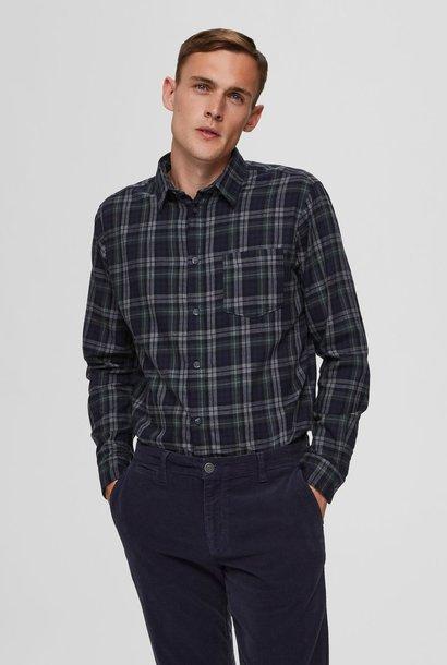 SELECTED chemise à carreaux coupe droite