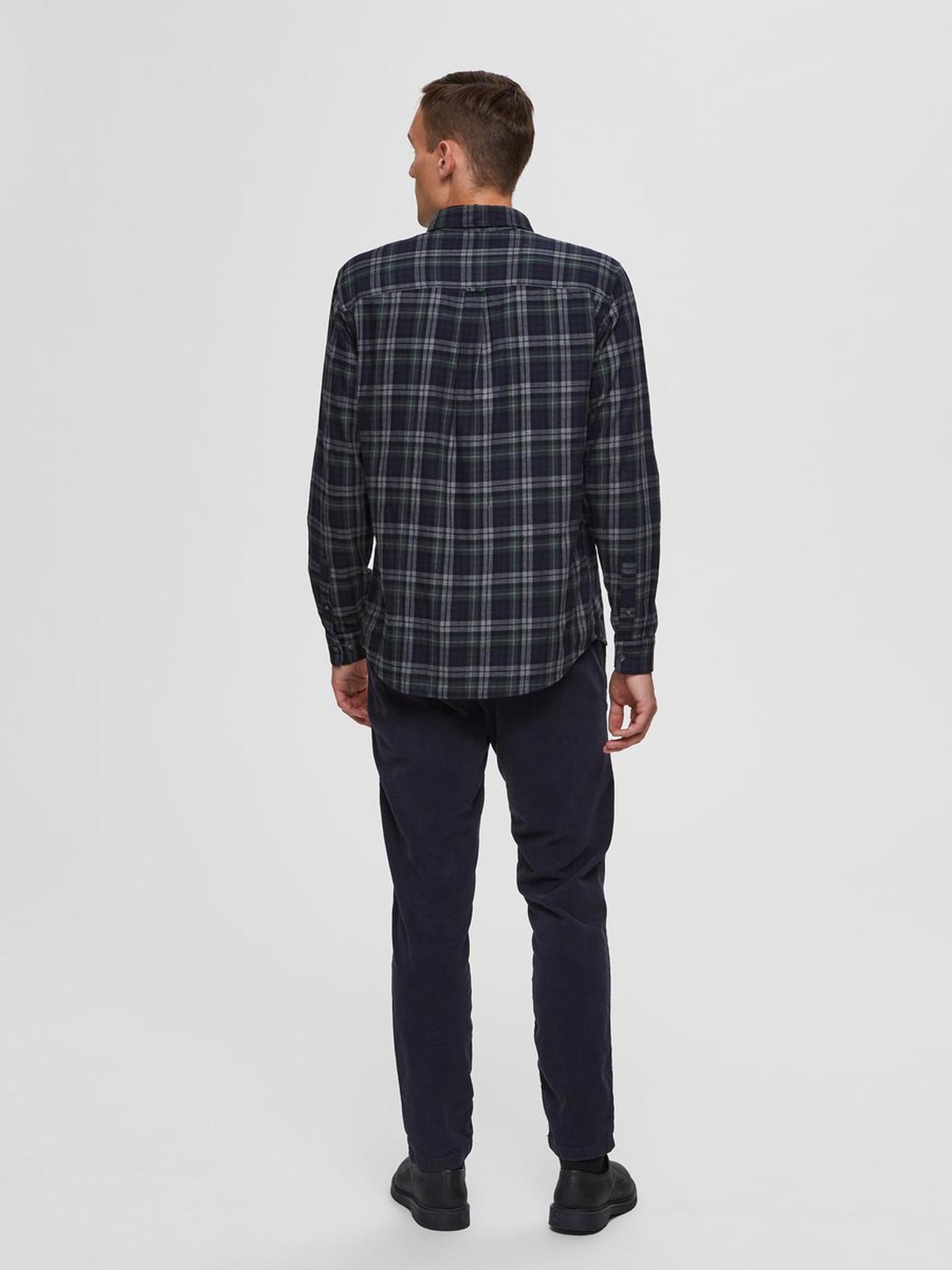 SELECTED chemise à carreaux coupe droite-2