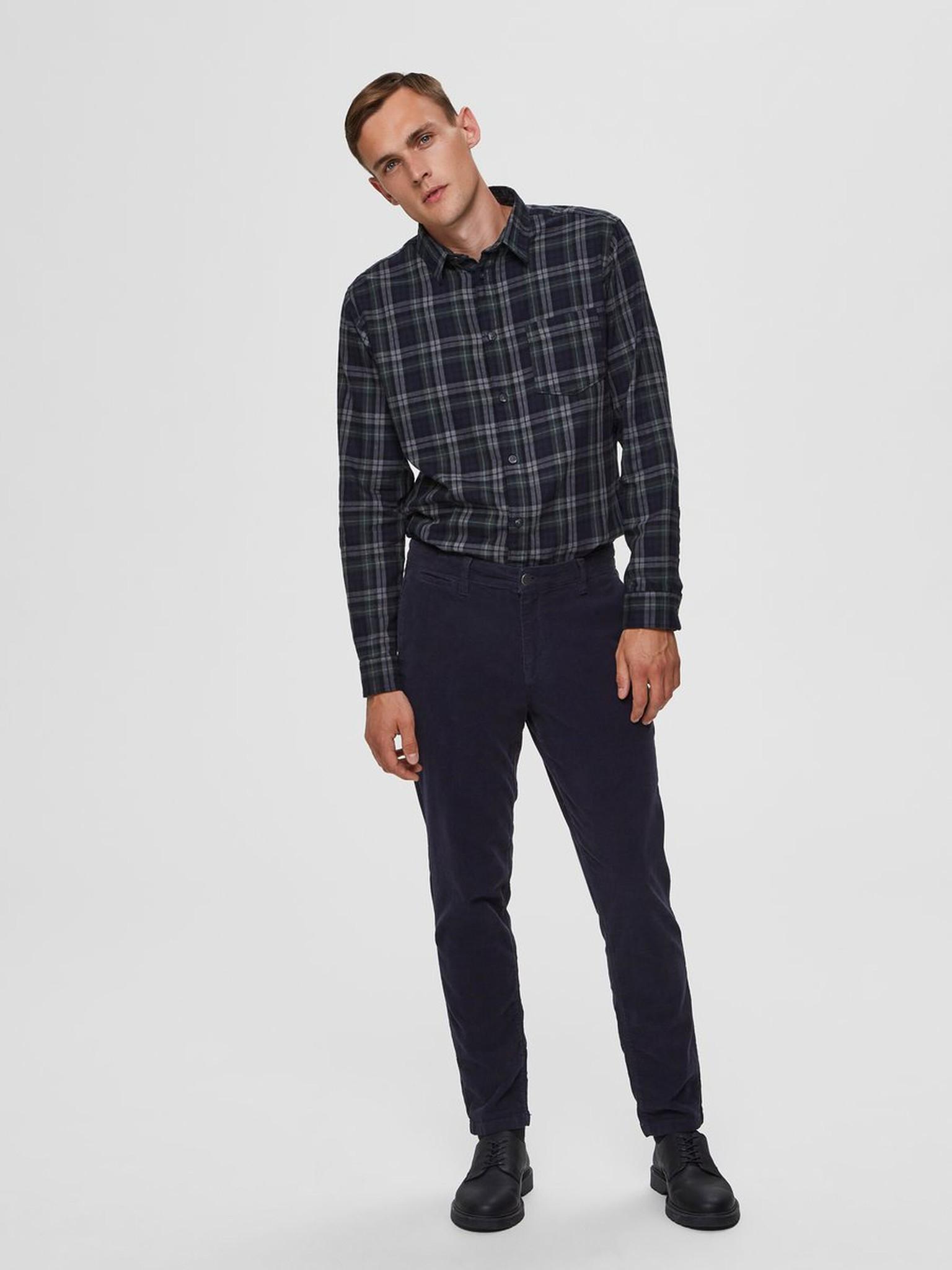SELECTED chemise à carreaux coupe droite-3