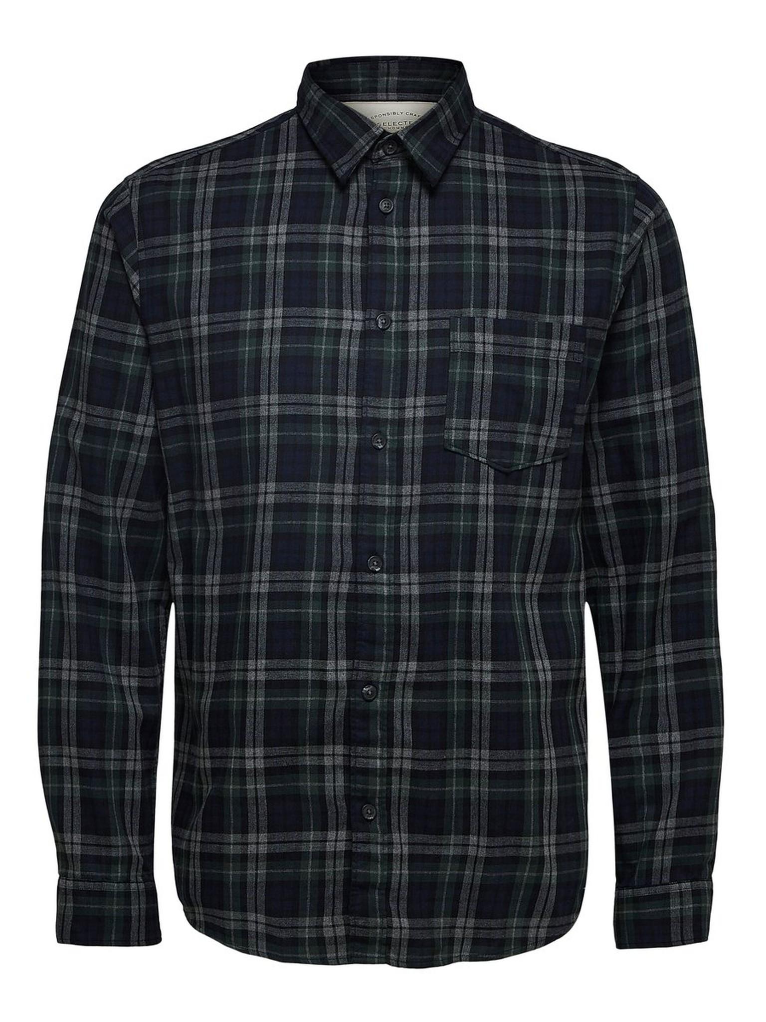 SELECTED chemise à carreaux coupe droite-5