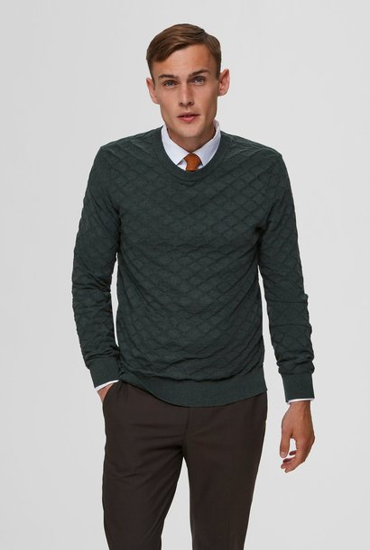 SELECTED pull maille losange