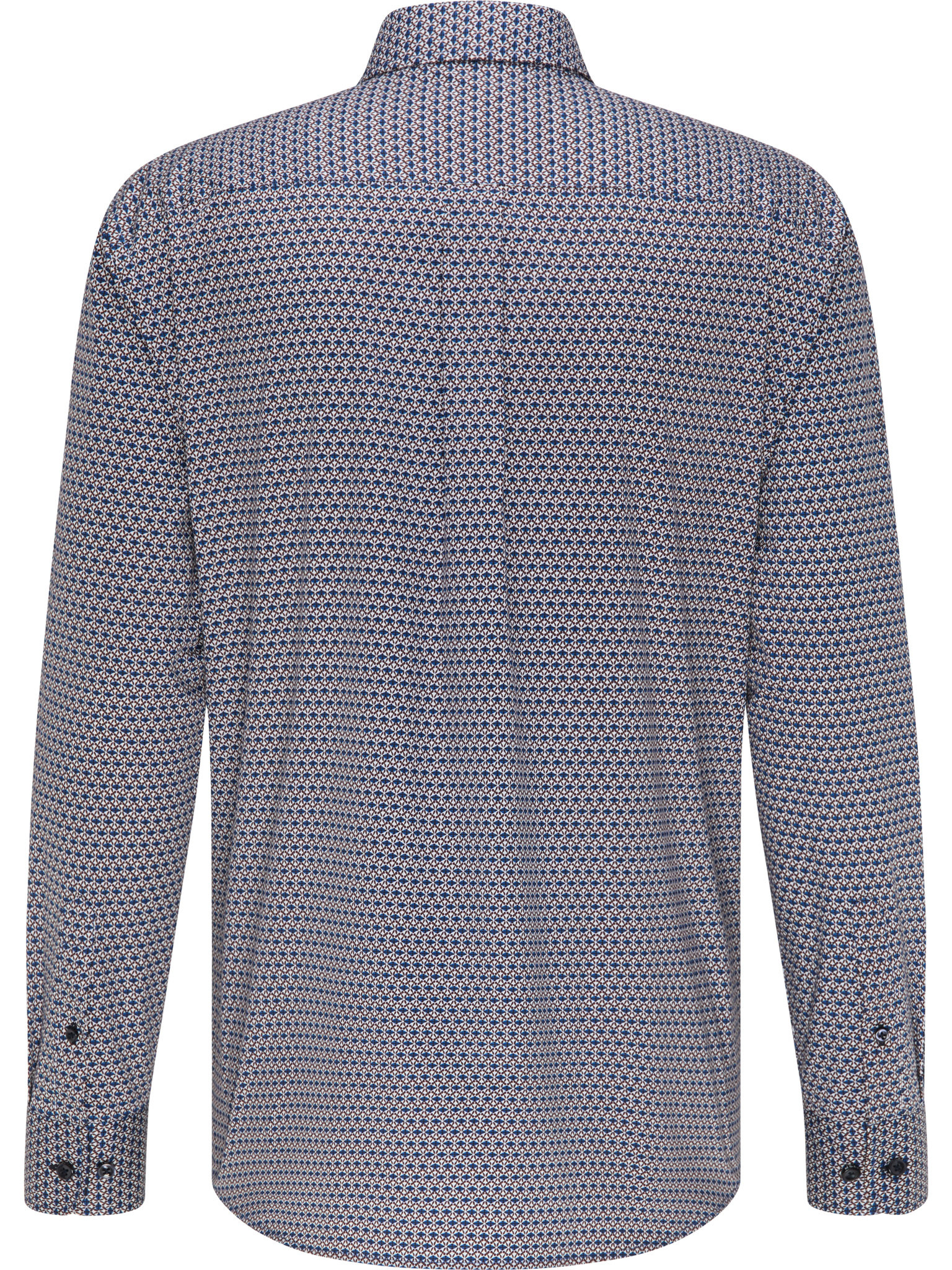 FYNCH HATTON chemise merlot blue print-2
