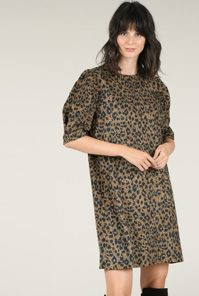 PEPITES robe courte léopard