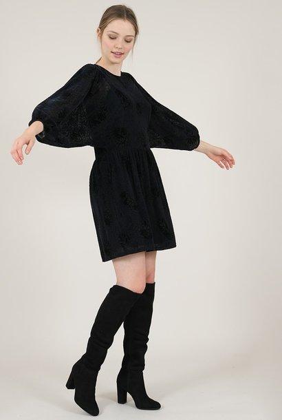 PEPITES robe imprimée de velours