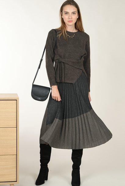 PEPITES jupe plissée bi-colore
