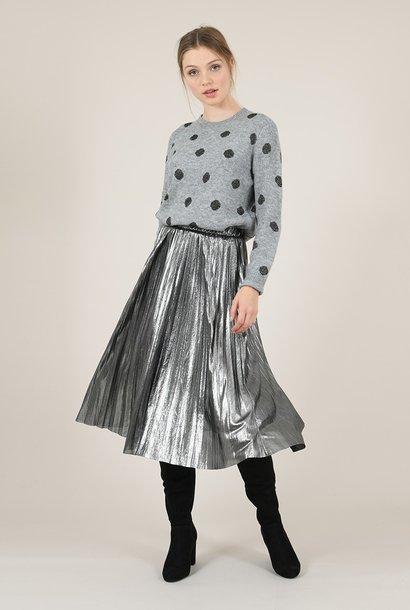 PEPITES jupe plissée métallisée