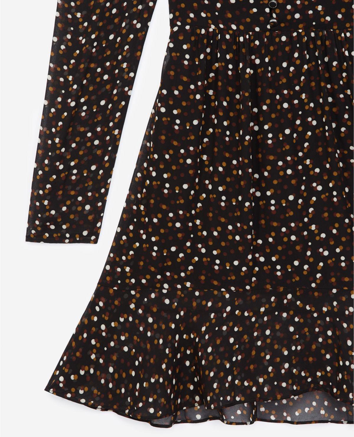 THE KOOPLES robe courte boutonnée imprimée pois-3