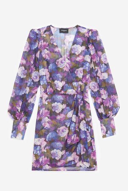 THE KOOPLES robe portefeuille imprimé violet