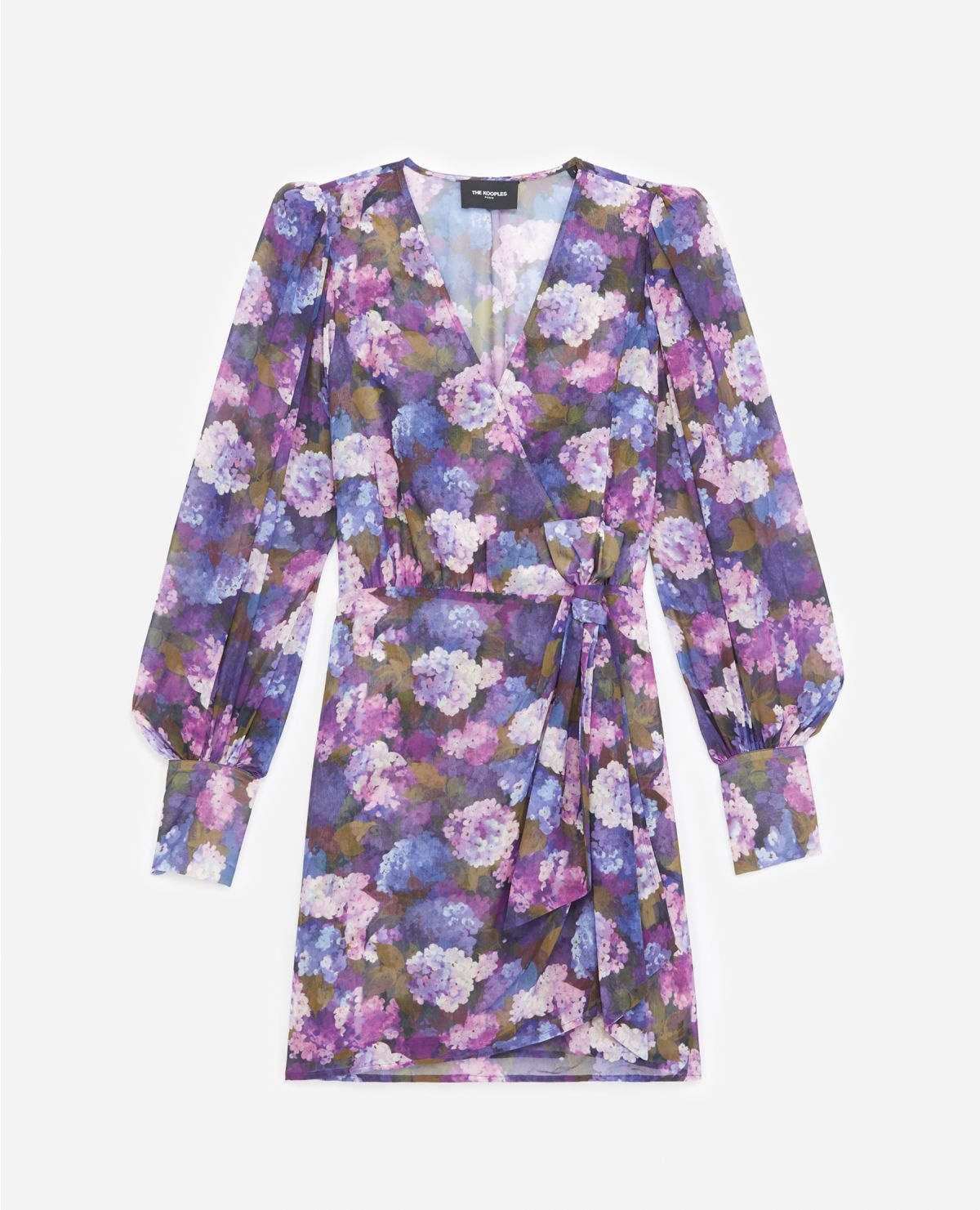 THE KOOPLES robe portefeuille imprimé violet-1