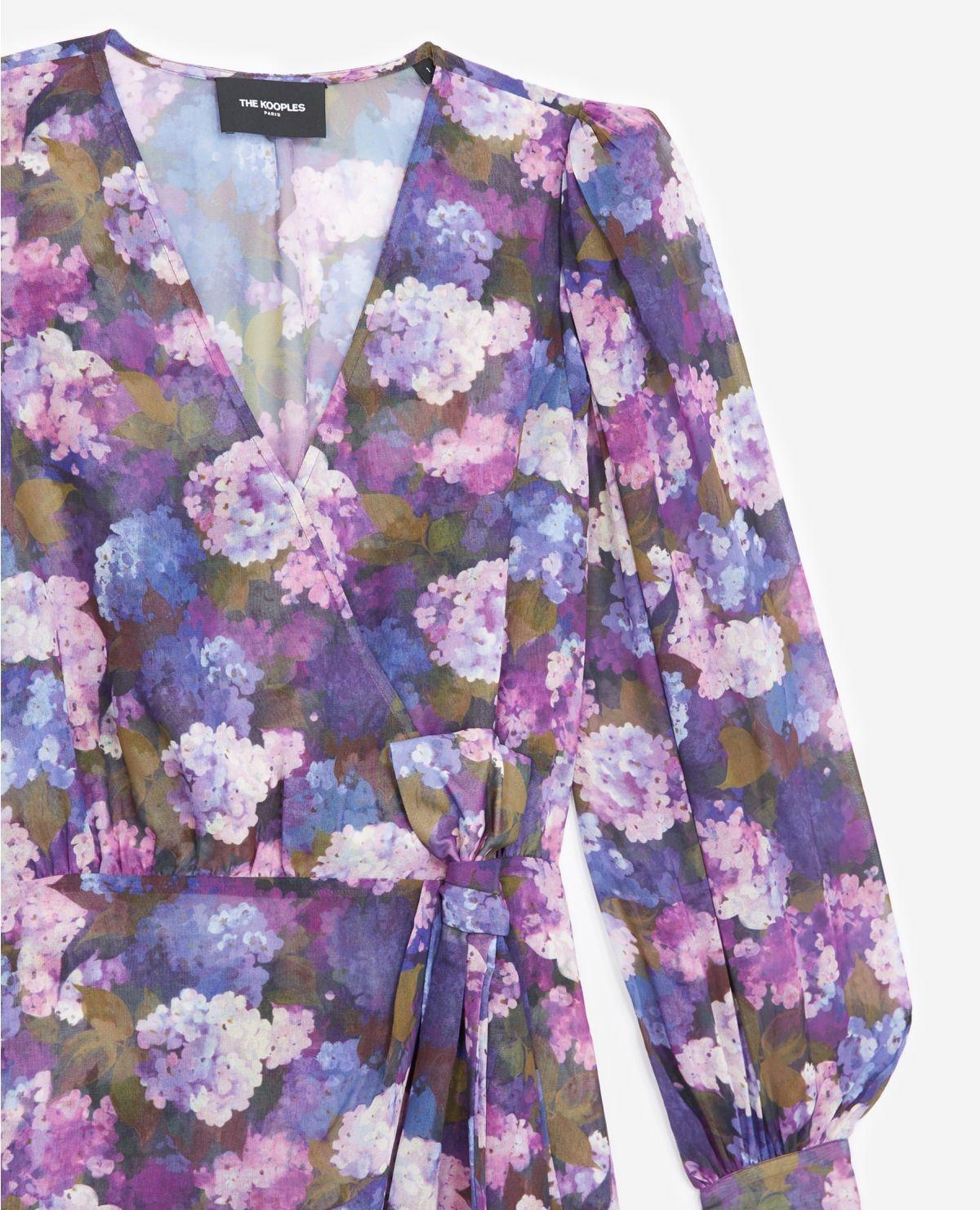 THE KOOPLES robe portefeuille imprimé violet-3