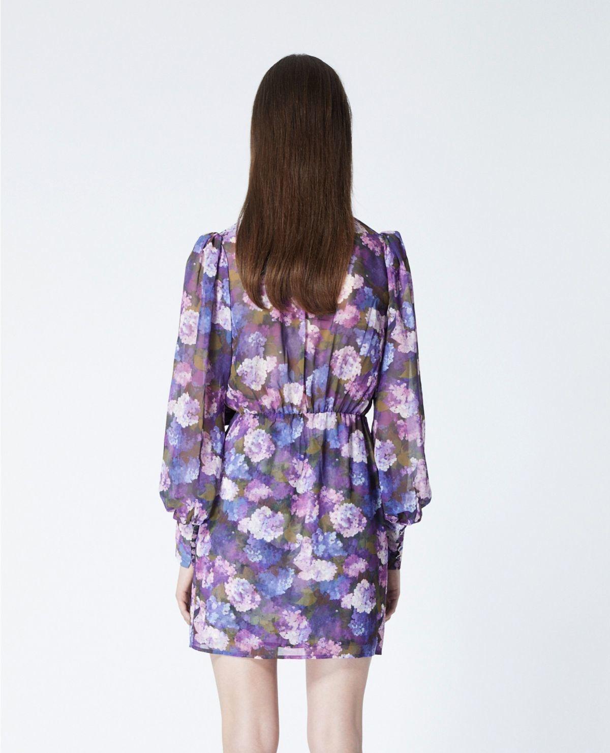 THE KOOPLES robe portefeuille imprimé violet-4