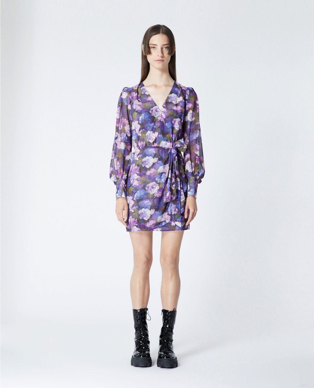 THE KOOPLES robe portefeuille imprimé violet-6