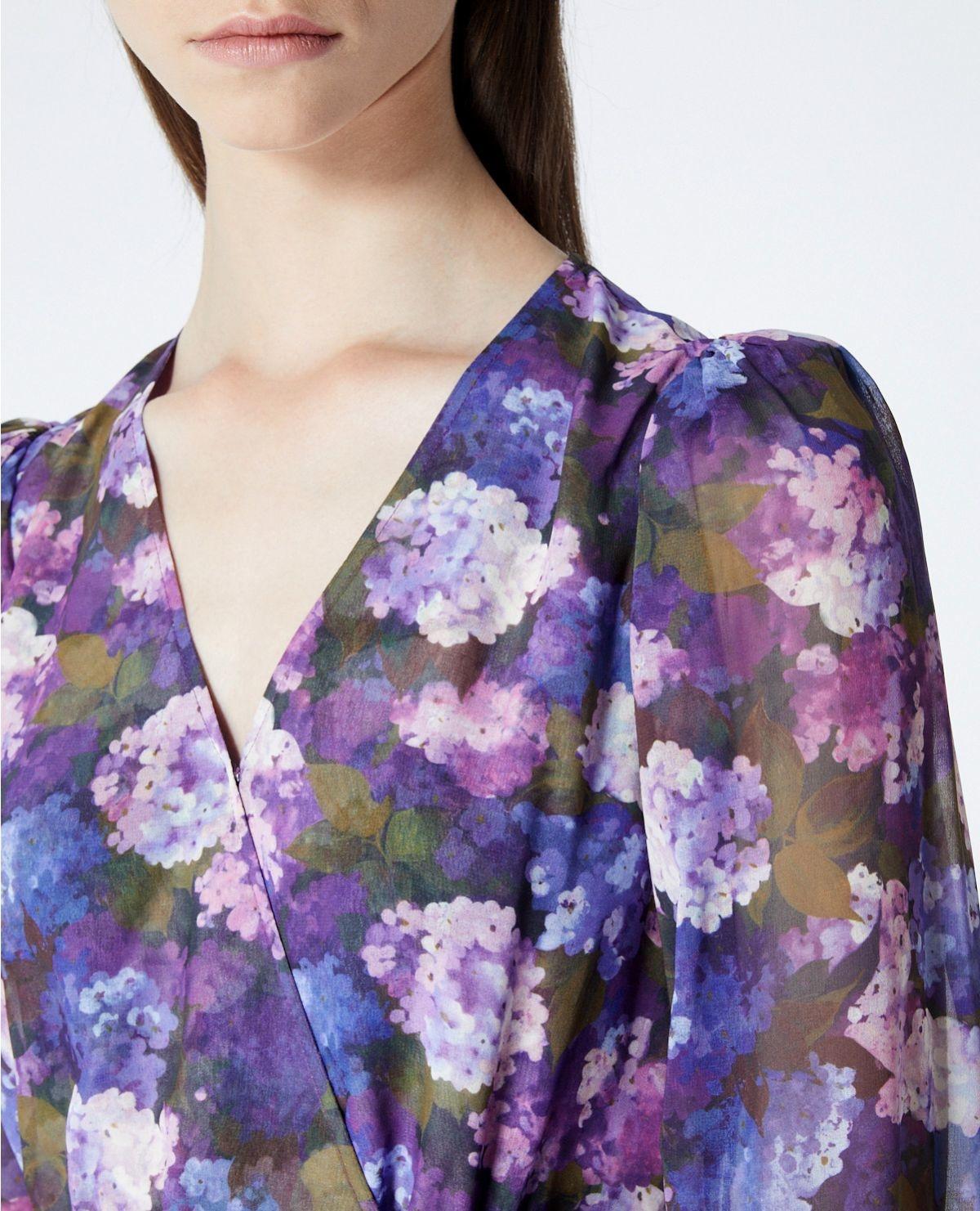 THE KOOPLES robe portefeuille imprimé violet-8