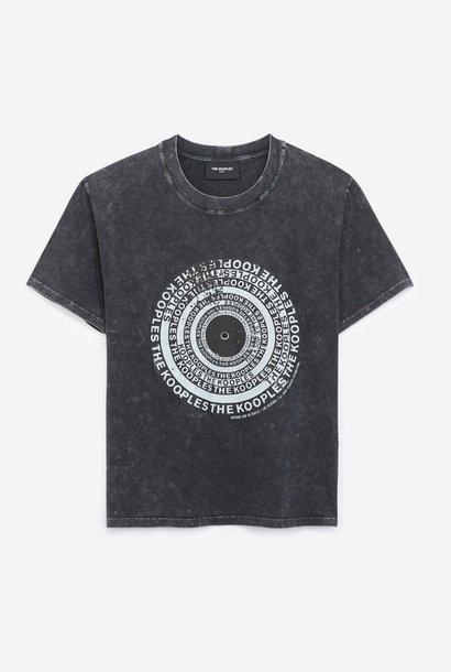 THE KOOPLES t-shirt coton noir sérigraphie vinyle
