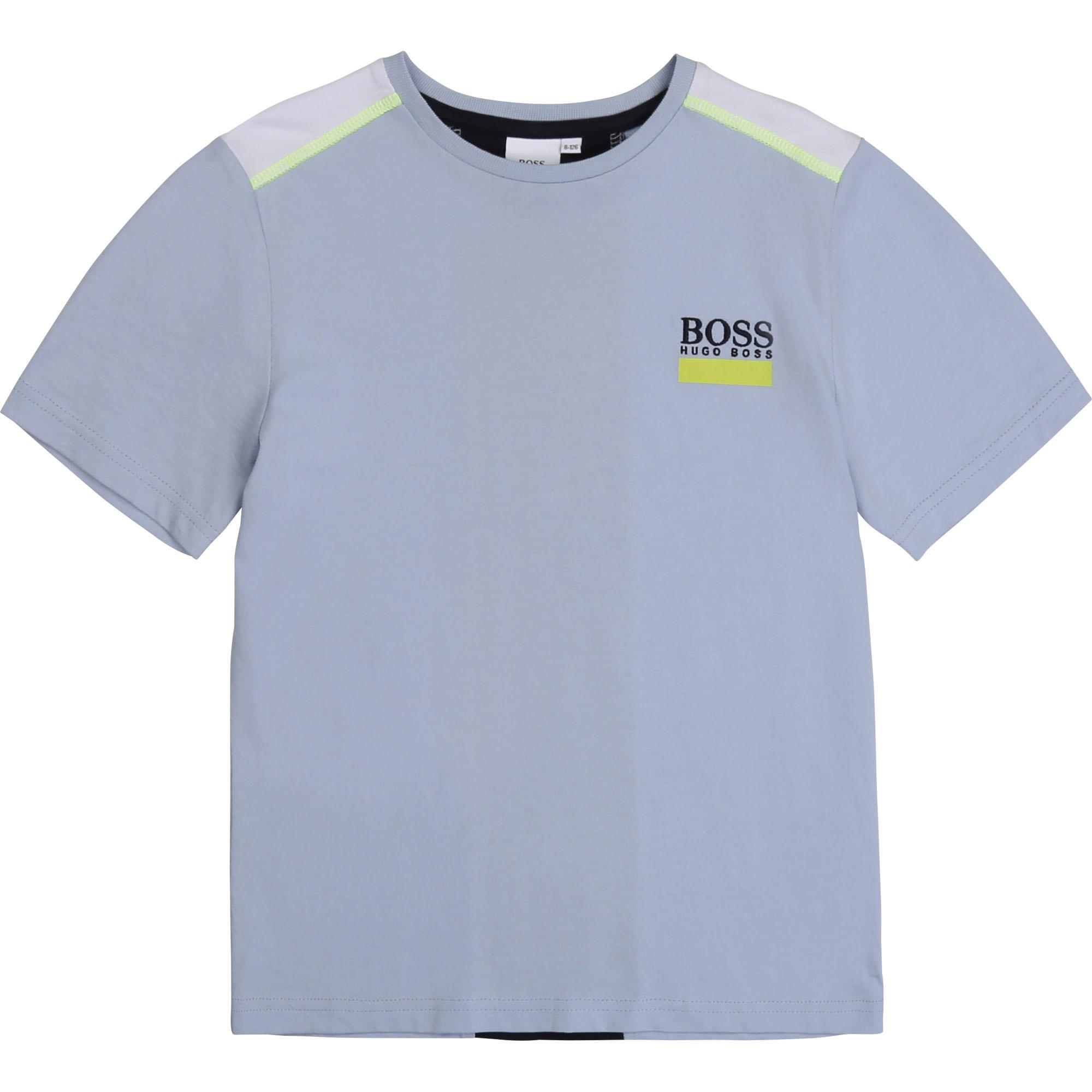 BOSS  t-shirt coton avec bande dos-1
