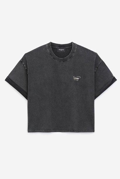 THE KOOPLES t-shirt coton noir détail épingle