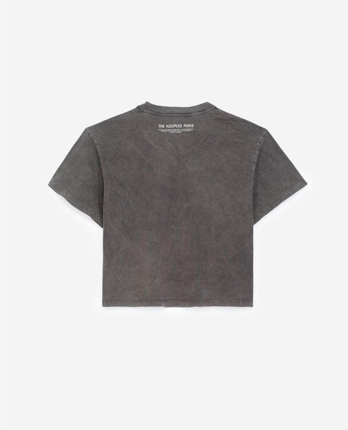 THE KOOPLES t-shirt noir coton sérigraphie rock-2