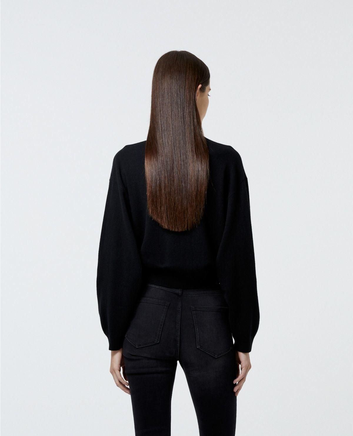 THE KOOPLES  cardigan noir zippé à manches amples-6