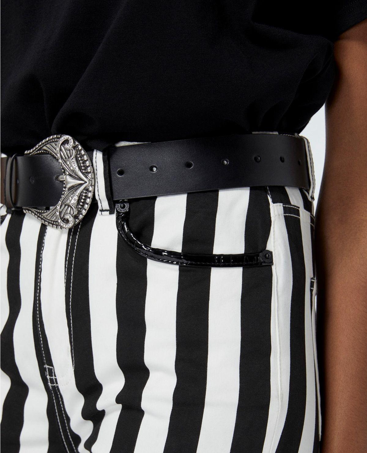 THE KOOPLES ceinture cuir à boucle vintage-4