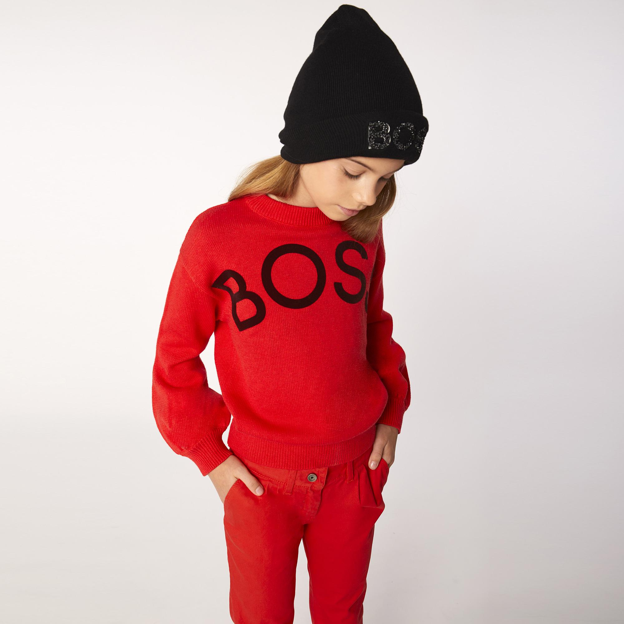 BOSS  bonnet tricoté avec logo-2