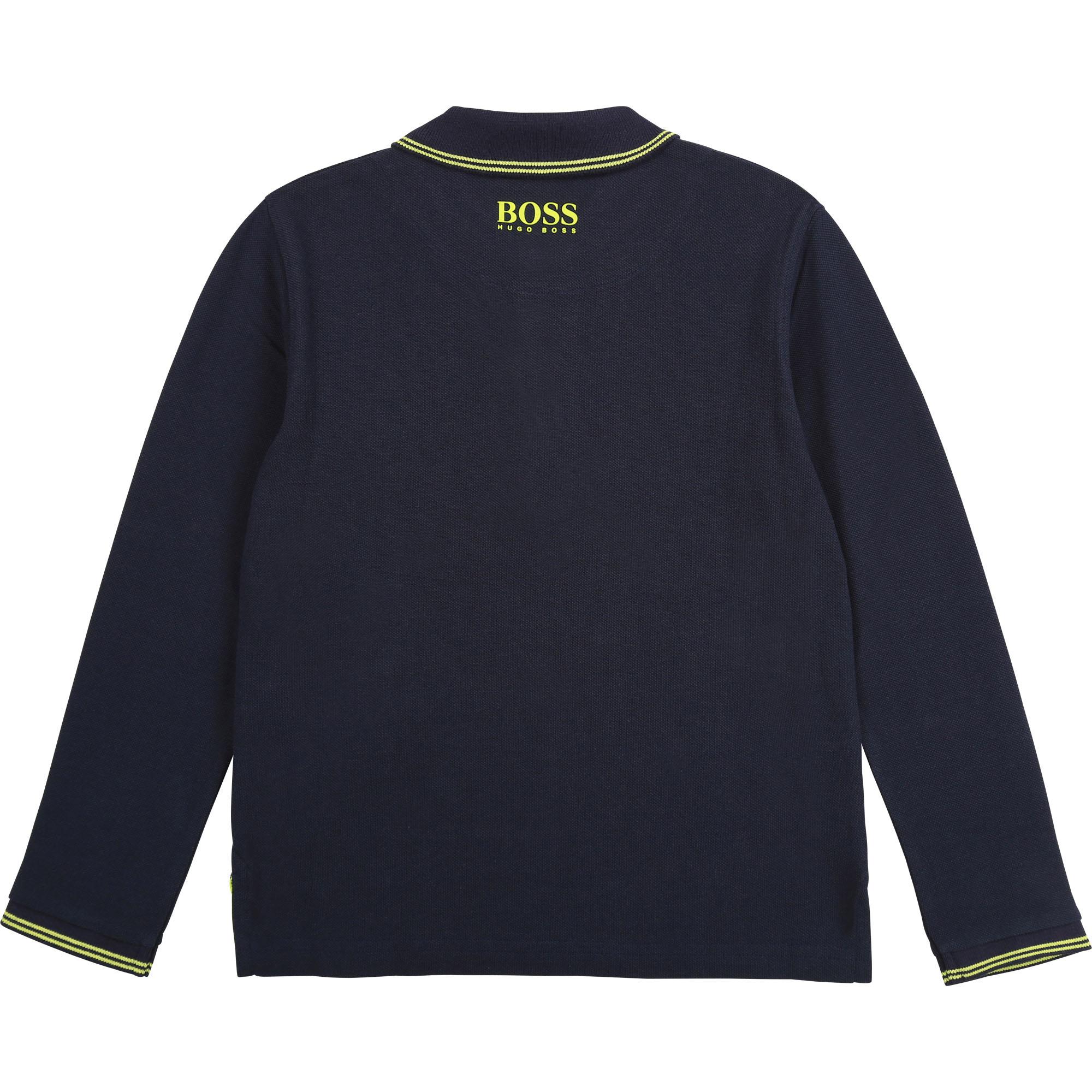 JBOSS polo regular en coton piqué-2