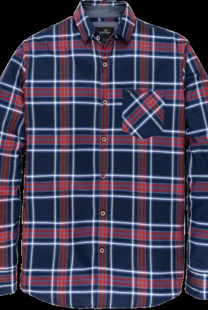 VANGUARD chemise longue à carreaux