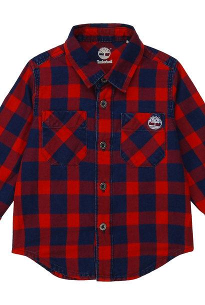 TIMBERLAND chemise en coton à carreaux