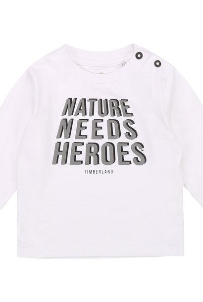 TIMBERLAND t-shirt coton bio avec imprimé