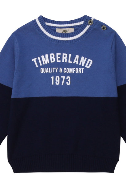 TIMBERLAND pull en coton color block