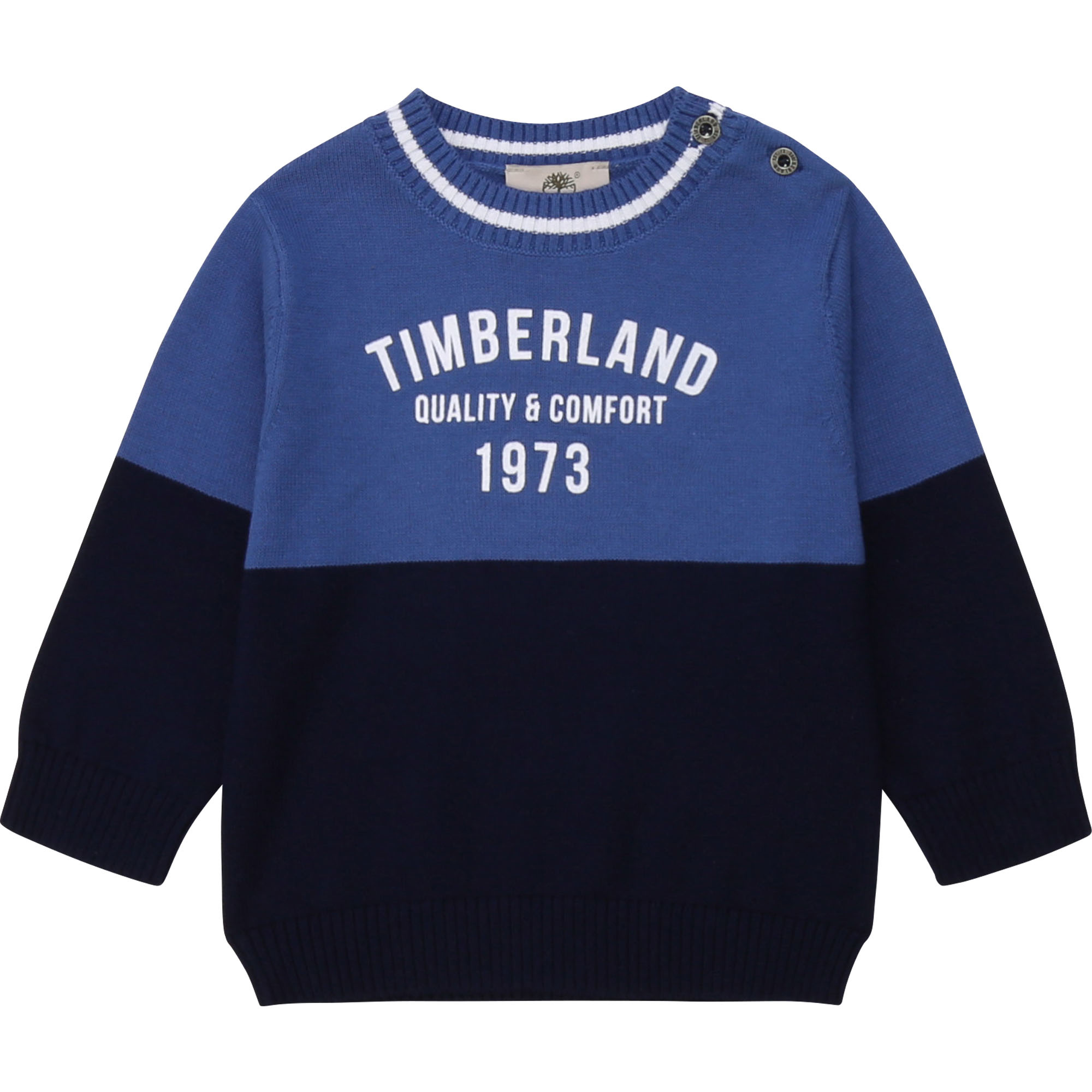 TIMBERLAND pull en coton color block-1
