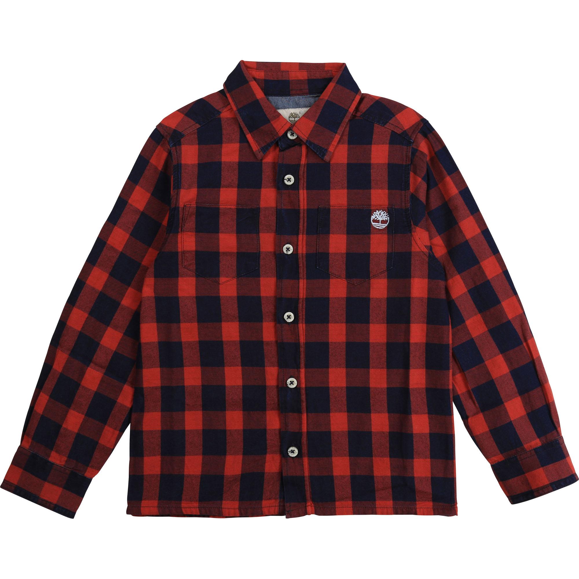 TIMBERLAND chemise rouge vif-1