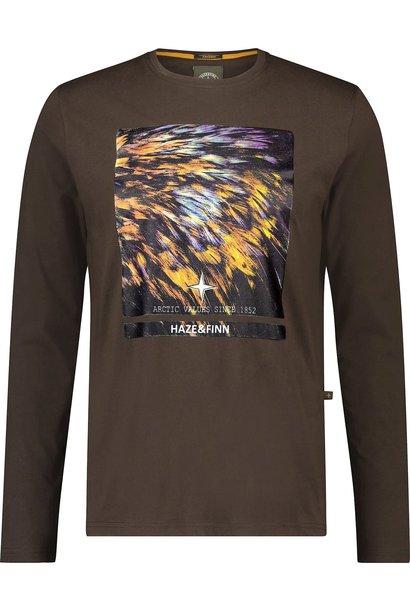 HAZE & FINN  manches longues arctic feather print chest