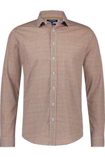 HAZE & FINN chemise extensible à imprimé rotan, coupe italienne