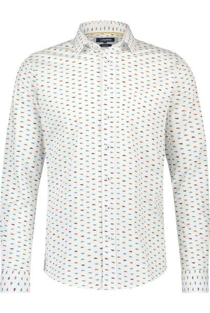 HAZE & FINN chemise extensible à imprimé voiture classique, coupe italienne
