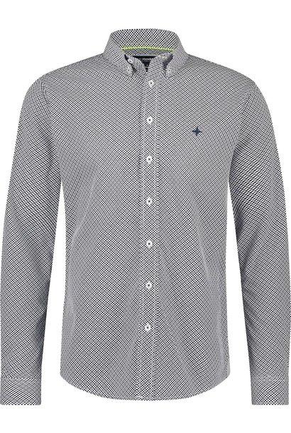 HAZE& FINN chemise stretch bleue à imprimé fleuri regular fit