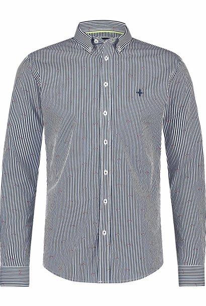 HAZE&FINN chemise stretch coupe classique à rayures poivrées