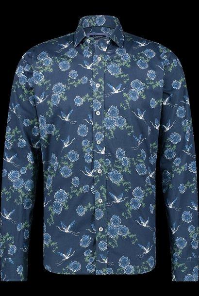 HAZE&FINN chemise extensible italienne à imprimé fleur d'oiseau
