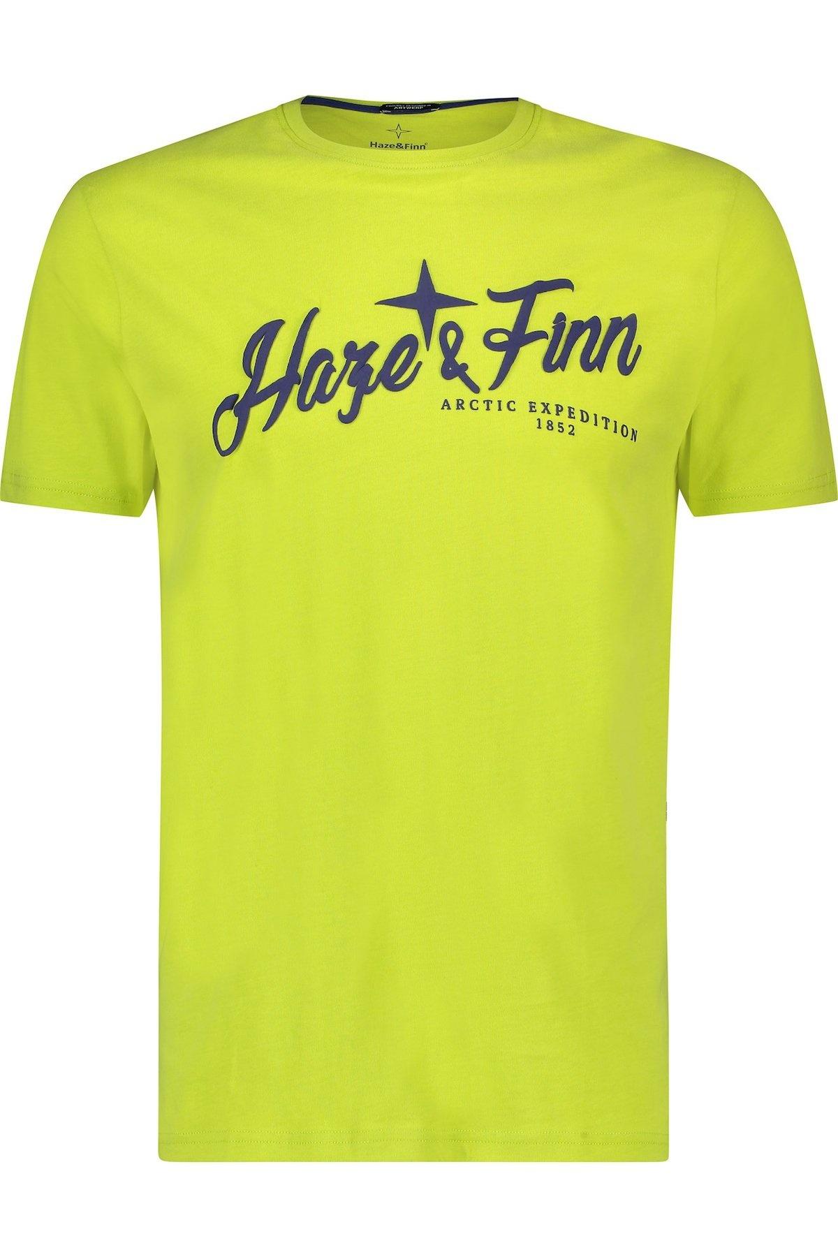 HAZE&FINN t-shirt à col rond et logo haze&finn puff-1