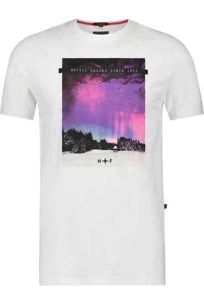 HAZE&FINN t-shirt imprimé sur la poitrine northern light
