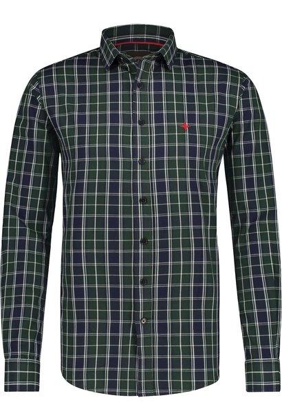 HAZE & FINN chemise regular fit en coton à carreaux