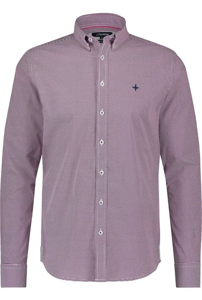 HAZE & FINN chemise stretch à imprimé illusion rouge regular fit