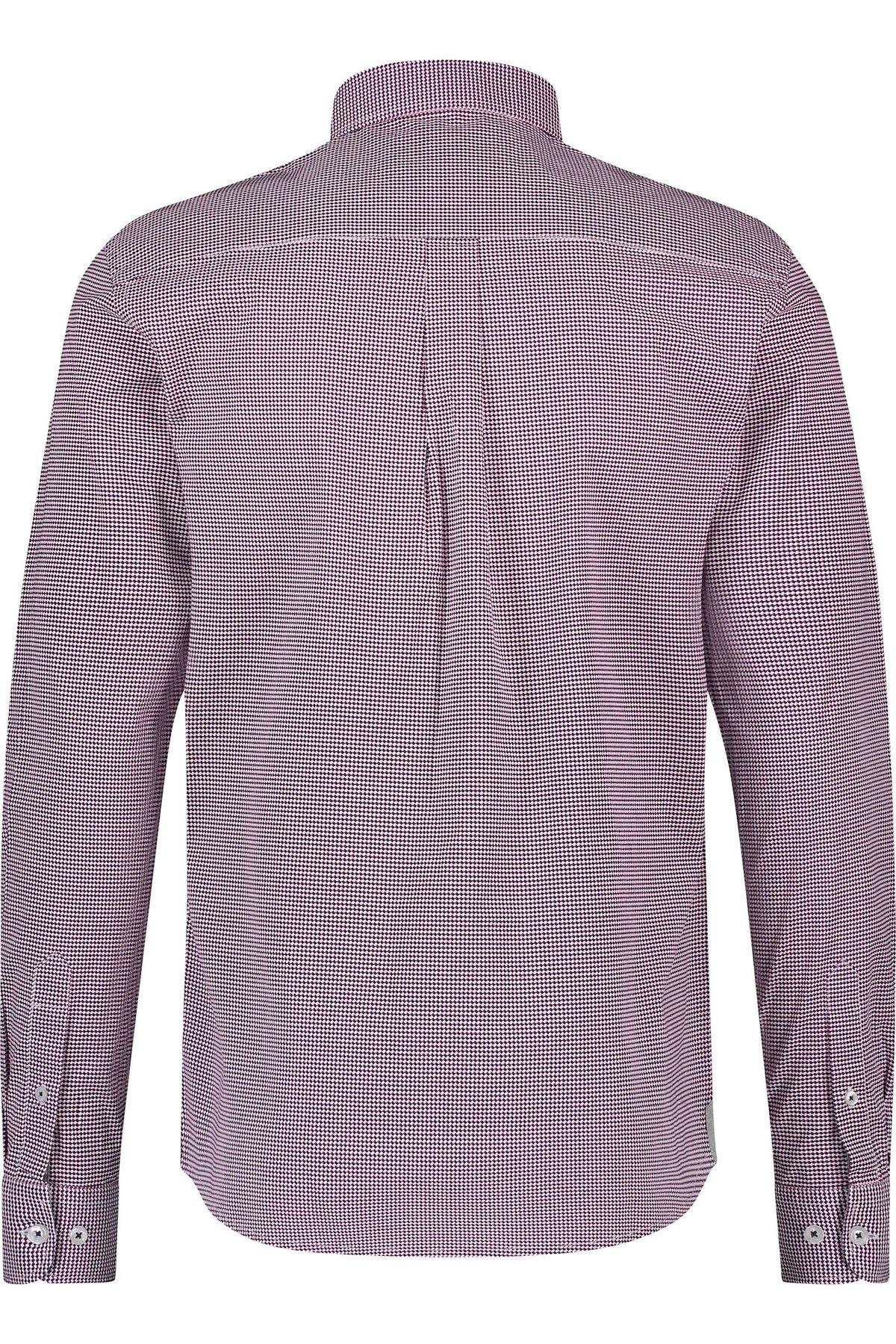 HAZE & FINN chemise stretch à imprimé illusion rouge regular fit-2