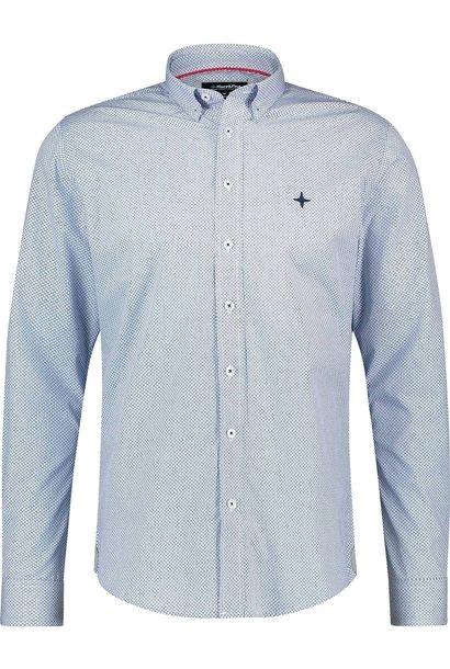 HAZE & FINN chemise extensible bleu clair à imprimé carré régular fit