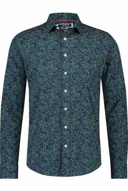 HAZE & FINN chemise stretch à imprimé aurore coupe italienne