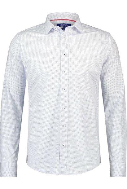 HAZE & FINN chemise stretch bleue à imprimé h italien