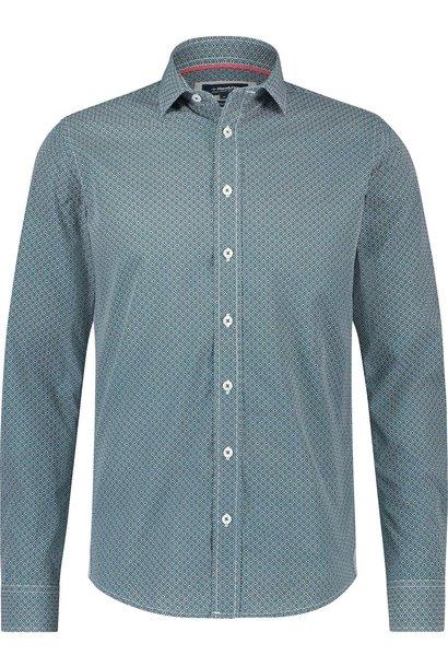 HAZE & FINN chemise stretch coupe italienne à imprimé fleur de diamant